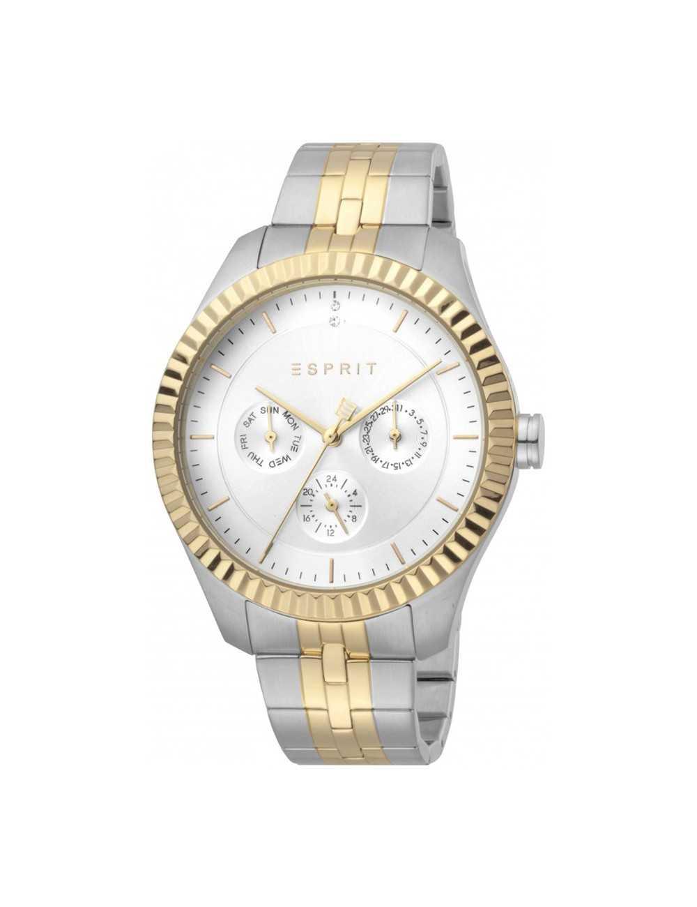 Esprit ES1L202M0105 Flute Silver Gold MB Ladies Watch