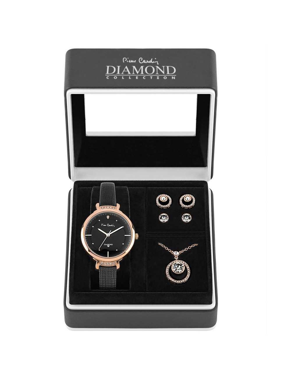 Pierre Cardin Gift Set Watch & Necklace & Earrings PCDX7903L7
