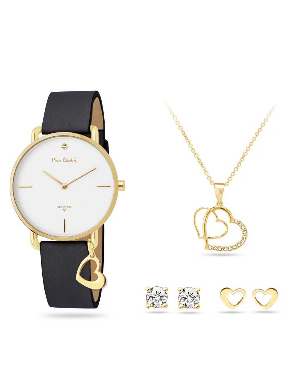Pierre Cardin Gift Set Watch & Necklace & Earrings PCDX8464L23