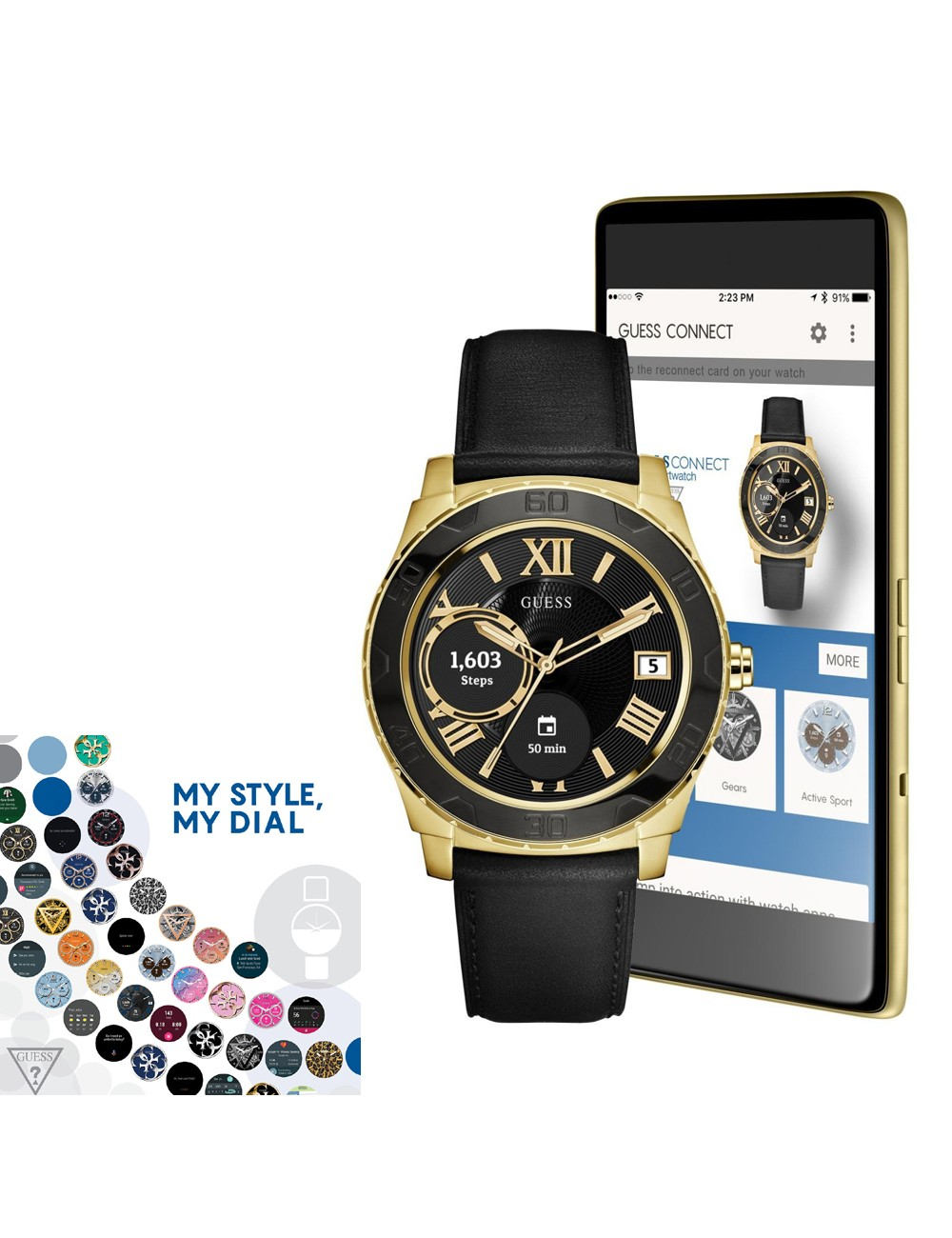 Guess Connect Ace C1001G3 Mens Watch Smartwatch
