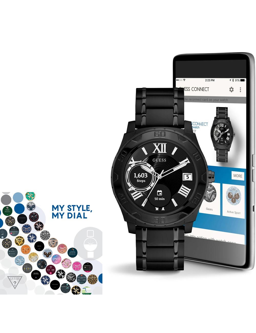 Guess Connect Ace C1001G5 Mens Watch Smartwatch