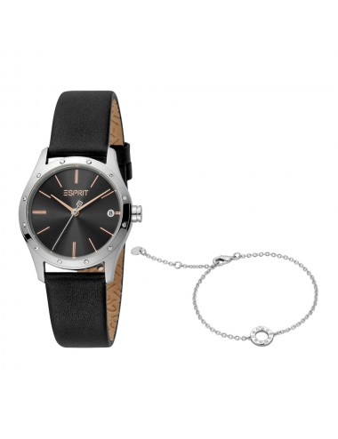 Esprit ES1L223L0025 Nava Black Silver Ladies Watch