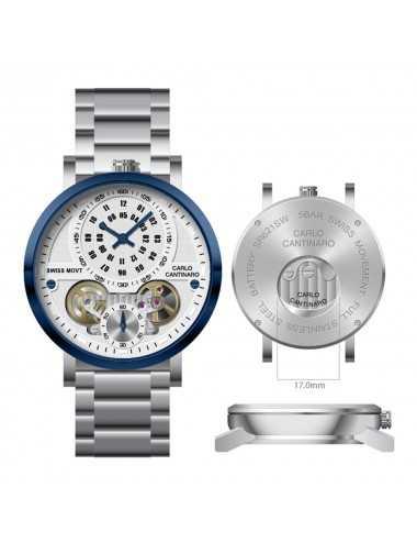 Carlo Cantinaro CC1004GB002 Mens Watch Quartzmatic GMT