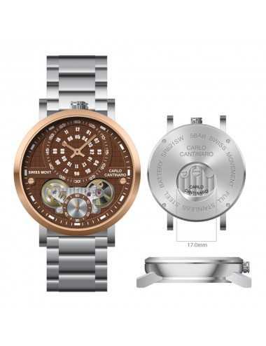 Carlo Cantinaro CC1004GB004 Mens Watch Quartzmatic GMT