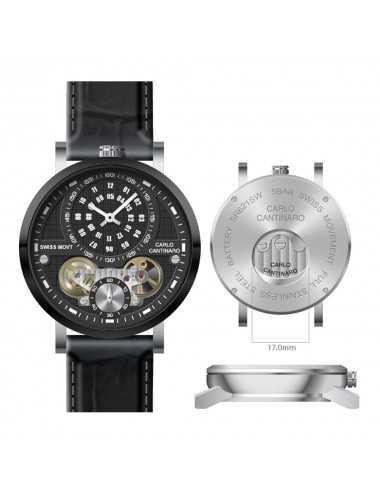 Carlo Cantinaro CC1004GL007 Mens Watch Quartzmatic GMT