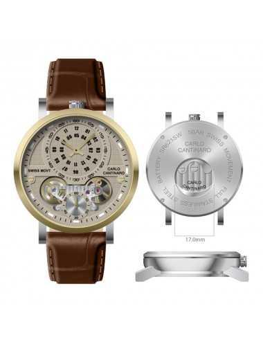 Carlo Cantinaro CC1004GL012 Mens Watch Quartzmatic GMT