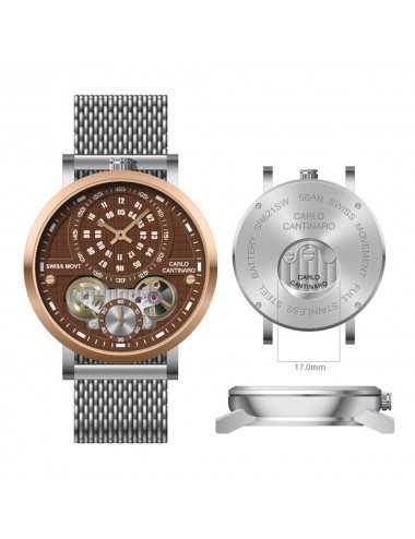 Carlo Cantinaro CC1004GM015 Mens Watch Quartzmatic GMT