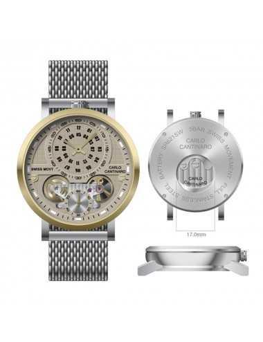Carlo Cantinaro CC1004GM017 Mens Watch Quartzmatic GMT