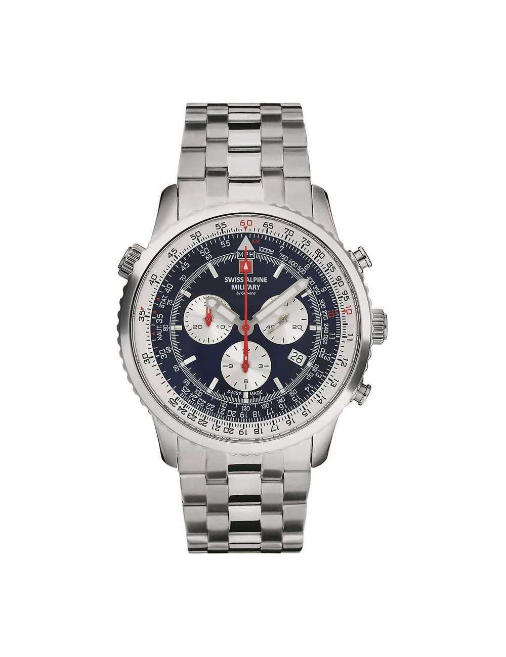 Swiss Alpine Military 7078.9135SAM Mens Watch Chronograph