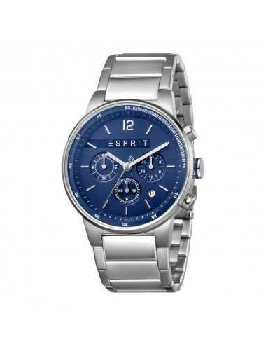 Pánske chronografové hodinky Esprit ES1G025M0075, ekvalizér, modré strieborné hodinky