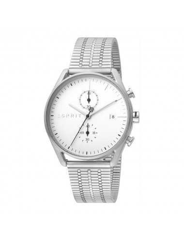 Esprit ES1G098M0055 Lock Chrono Silver Mesh Mesh Watch Chronograph