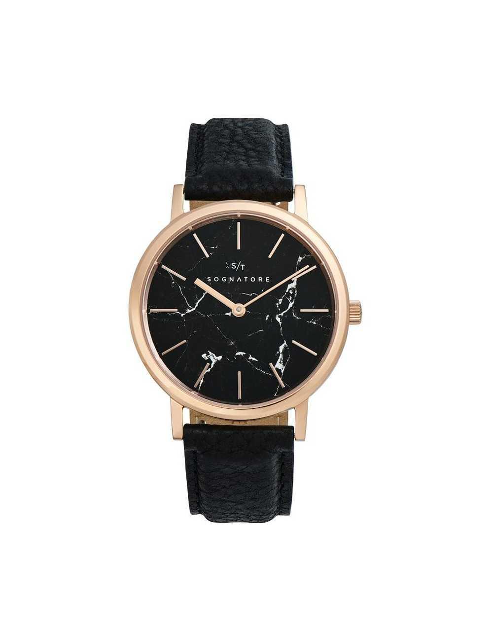 Dámske / pánske hodinky Sognatore Marble Black Rose Gold