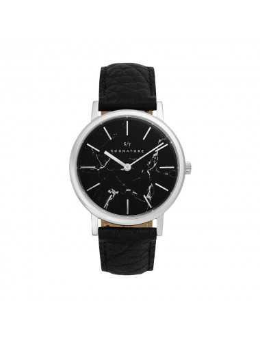 Sognatore Marble Black Silver Ladies Watch / Mens Watch