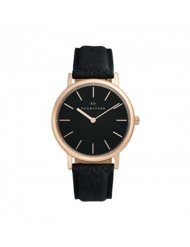 Sognatore Pure Black Rose Gold Ladies Watch / Mens Watch